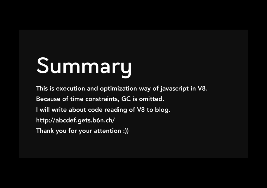 Summary This is execution and optimization way...