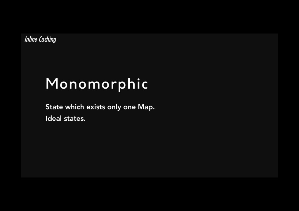 Monomorphic State which exists only one Map. I...
