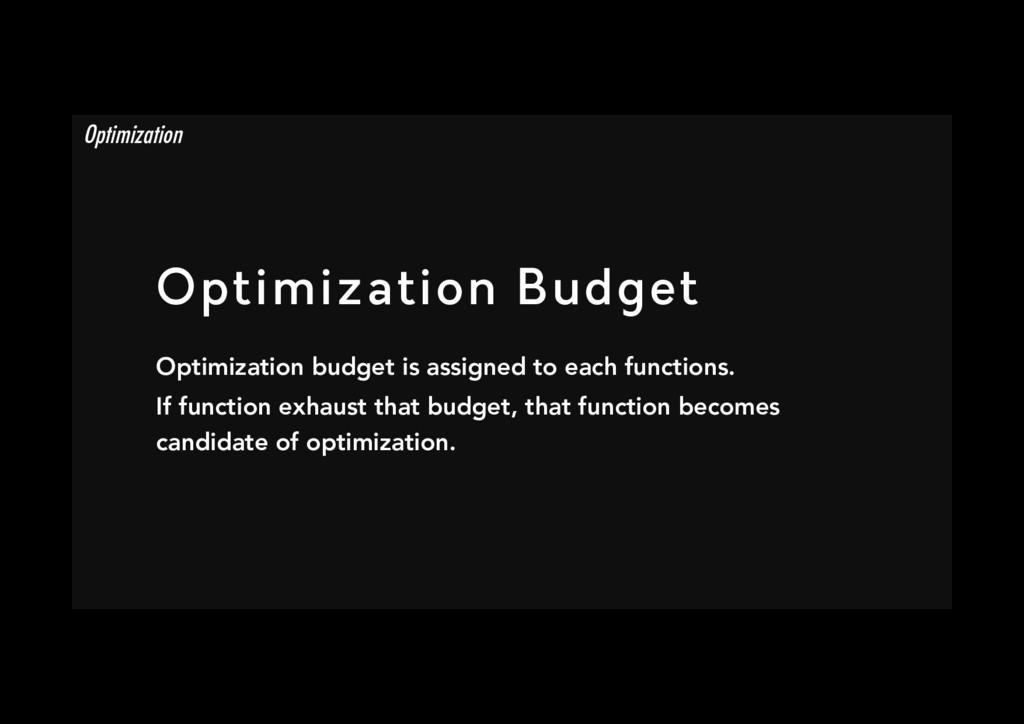 Optimization Budget Optimization budget is ass...