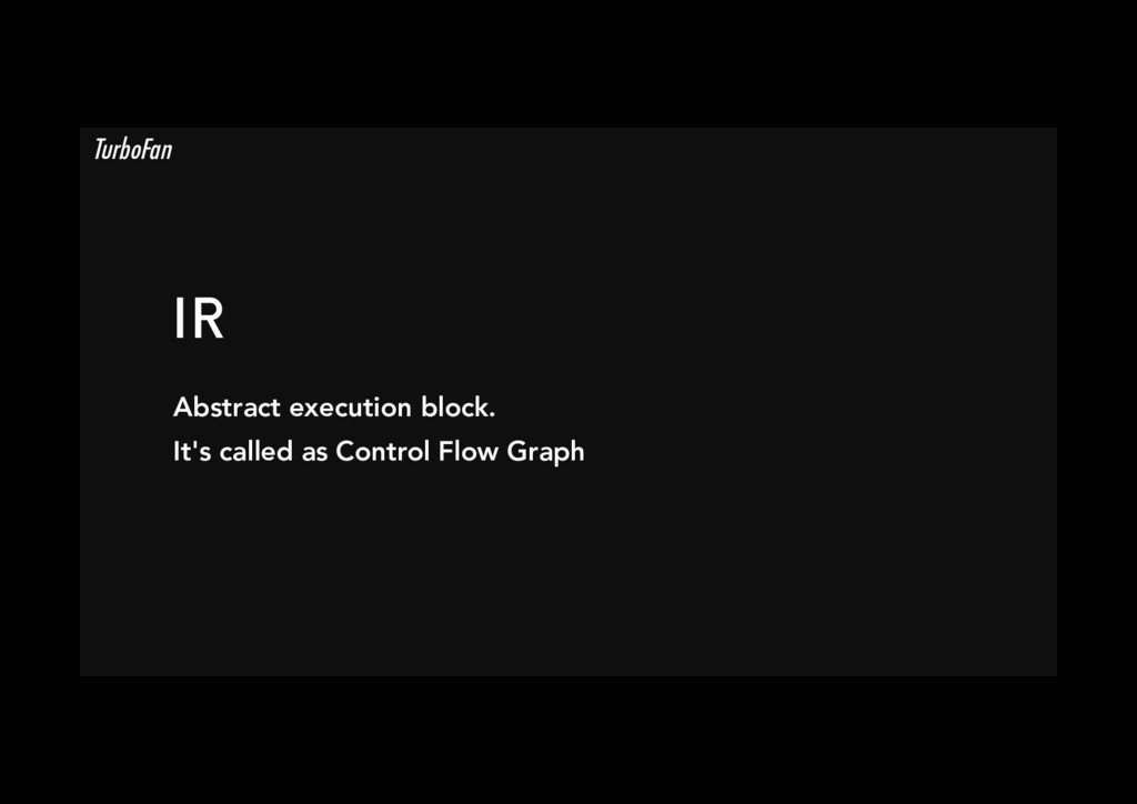 IR Abstract execution block. It's called as Co...