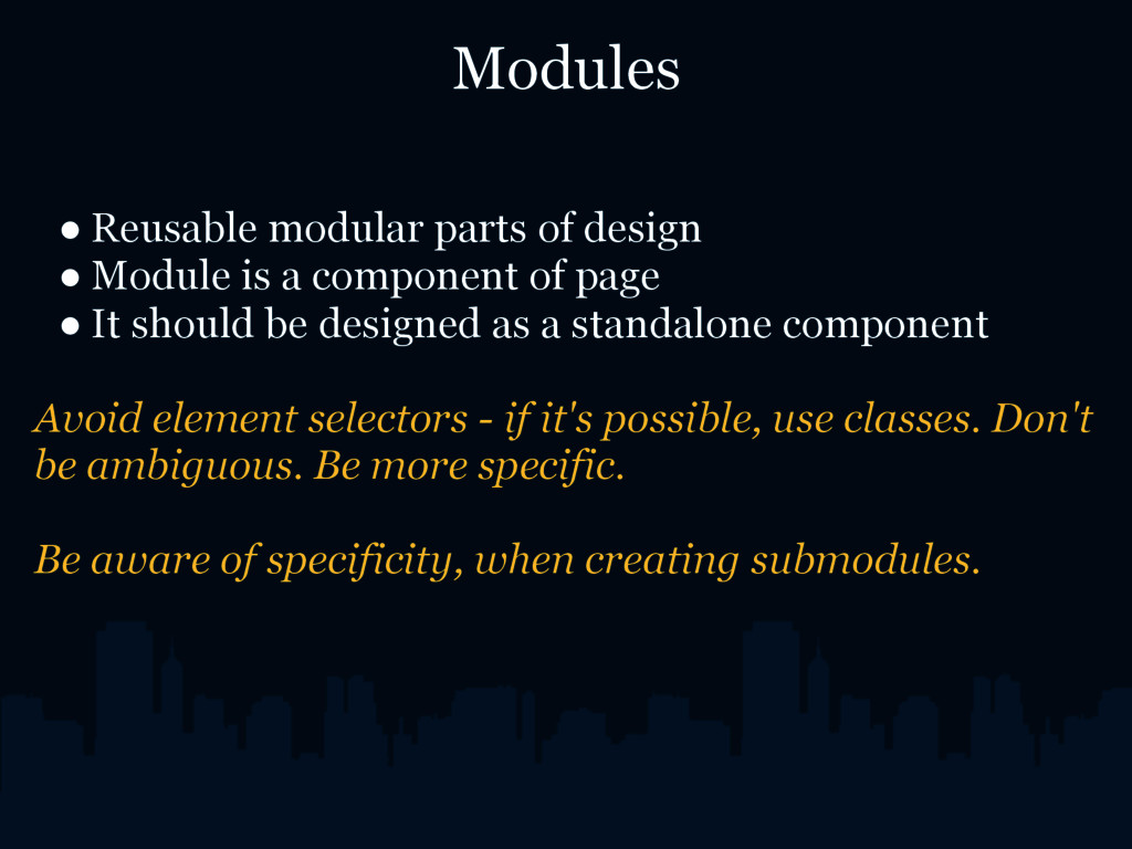 Modules ● Reusable modular parts of design ● Mo...