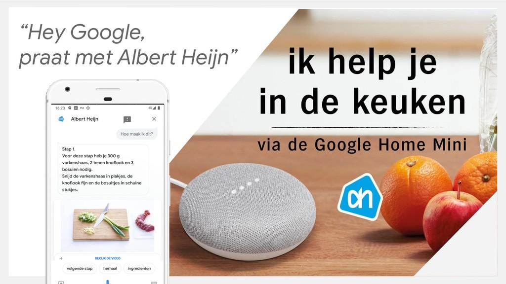 """""""Hey Google, praat met Albert Heijn"""""""