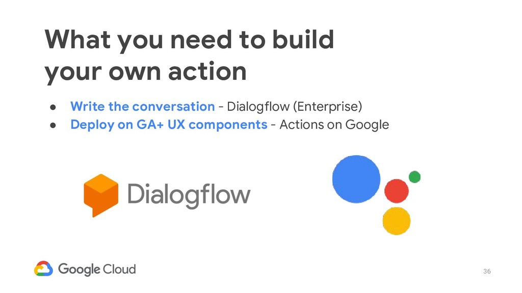 36 ● Write the conversation - Dialogflow (Enter...
