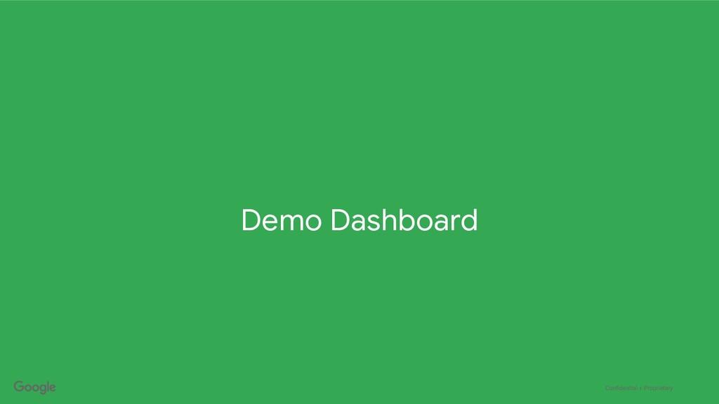 Confidential + Proprietary Demo Dashboard