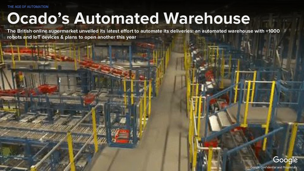 Ocado's Automated Warehouse The British online ...