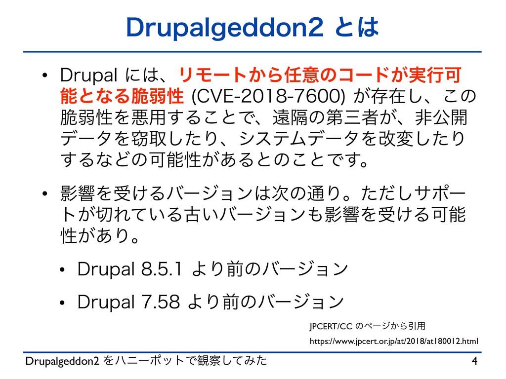 Drupalgeddon2 ΛϋχʔϙοτͰ؍ͯ͠Έͨ %SVQBMHFEEPOͱ w...