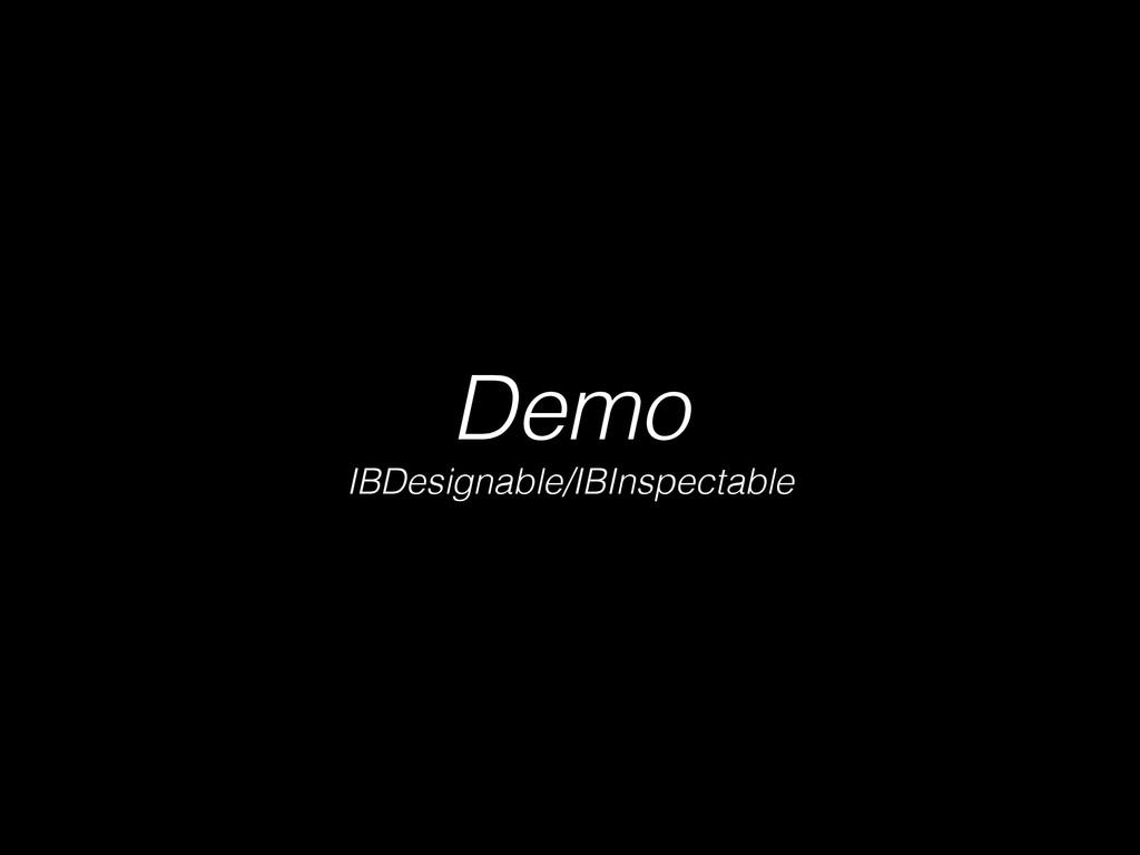 Demo IBDesignable/IBInspectable
