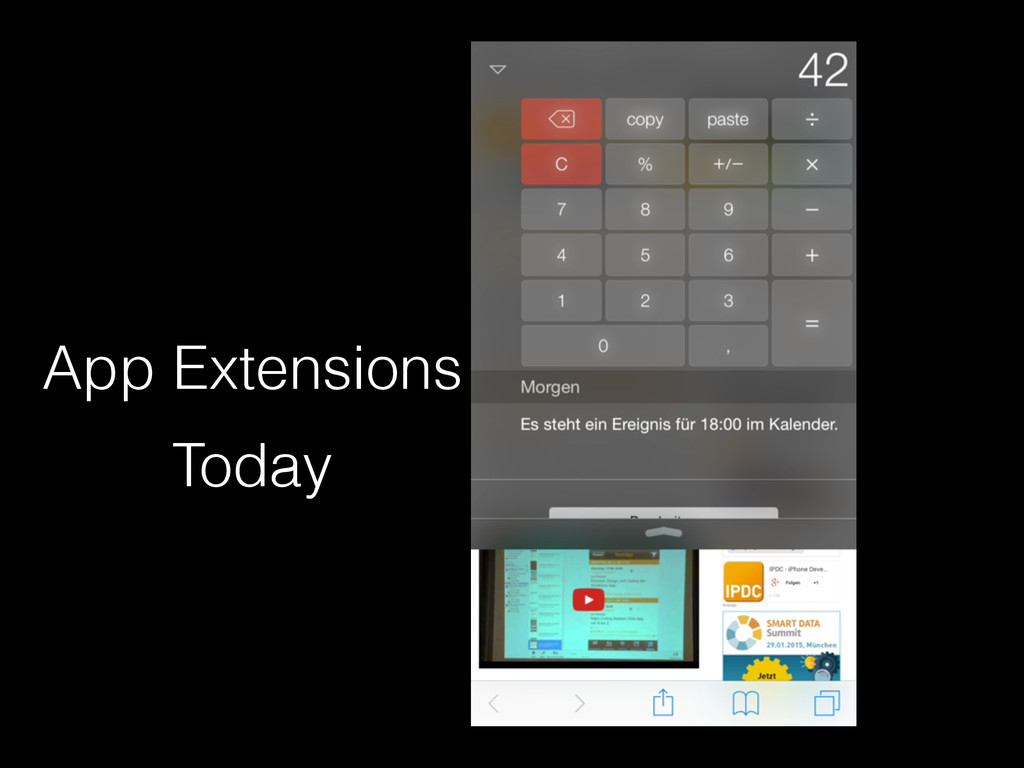 Today App Extensions