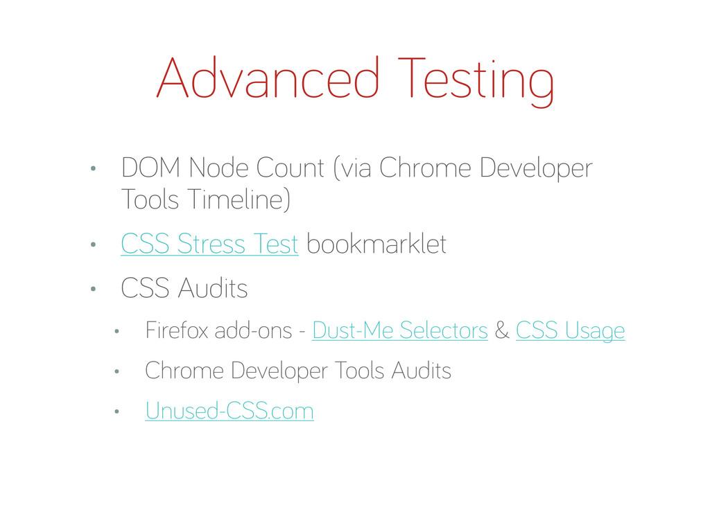 • DOM Node Count (via Chrome Developer Tools Ti...