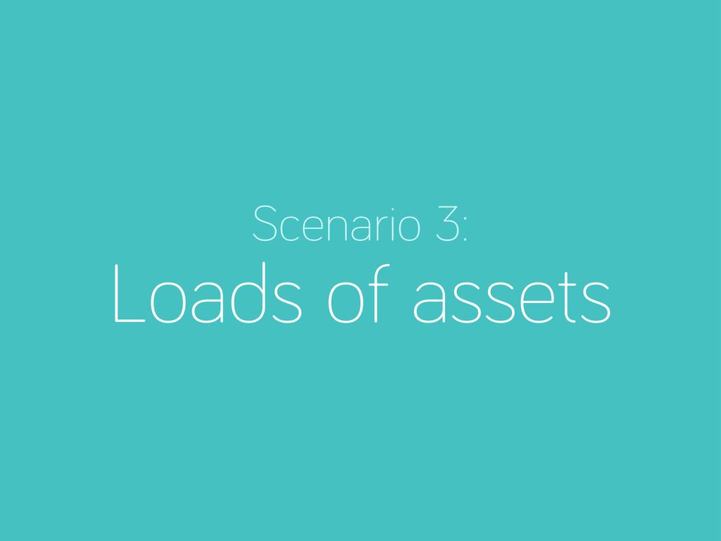 Scenario 3: Loads of assets