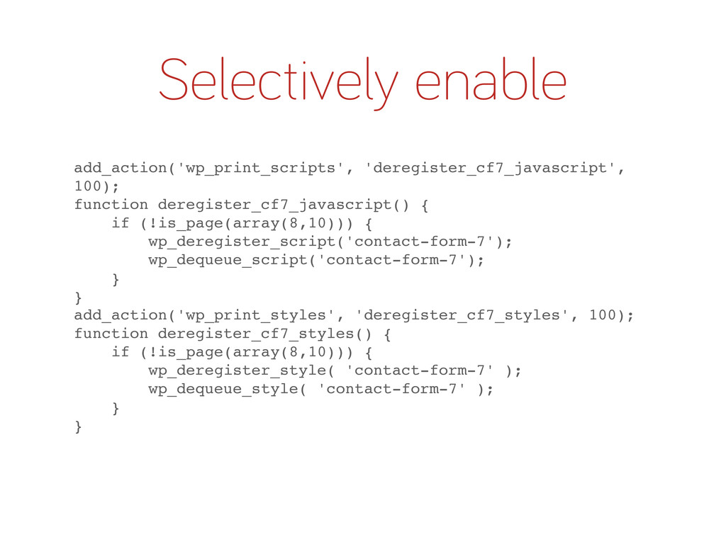 Selectively enable add_action('wp_print_scripts...
