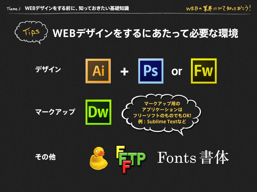WE B デザインをする前に、 知っておきたい基礎知識 WE B デザインをするにあたって必要...