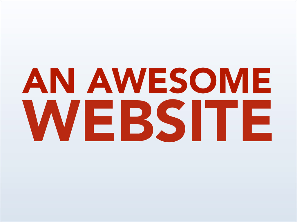 WEBSITE AN AWESOME
