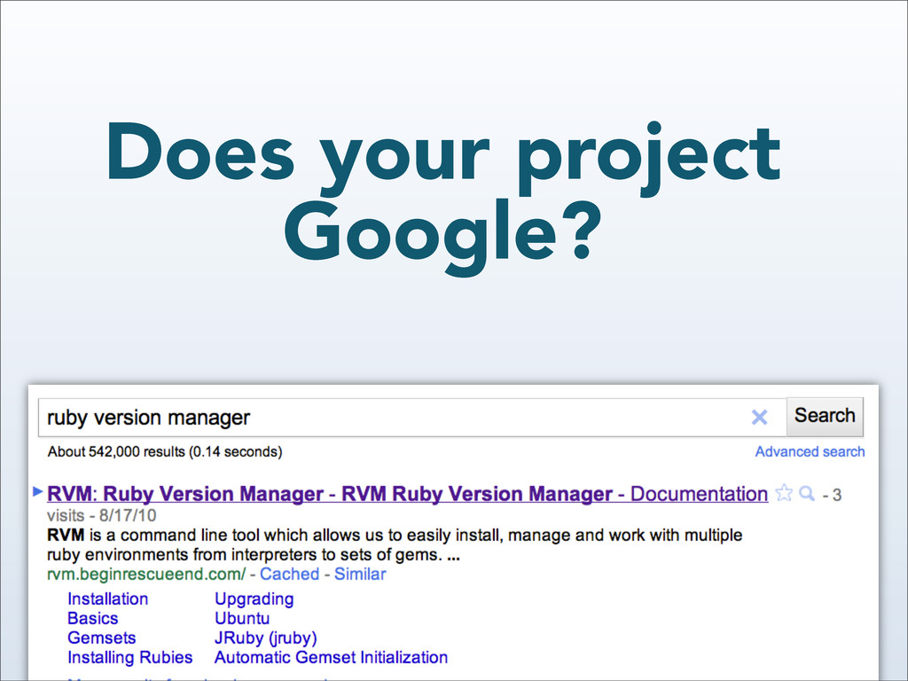 Does your project Google?