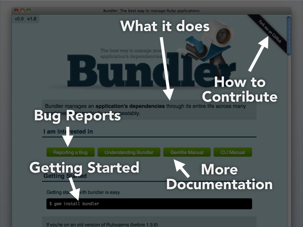 How to Contribute Bug Reports More Documentatio...