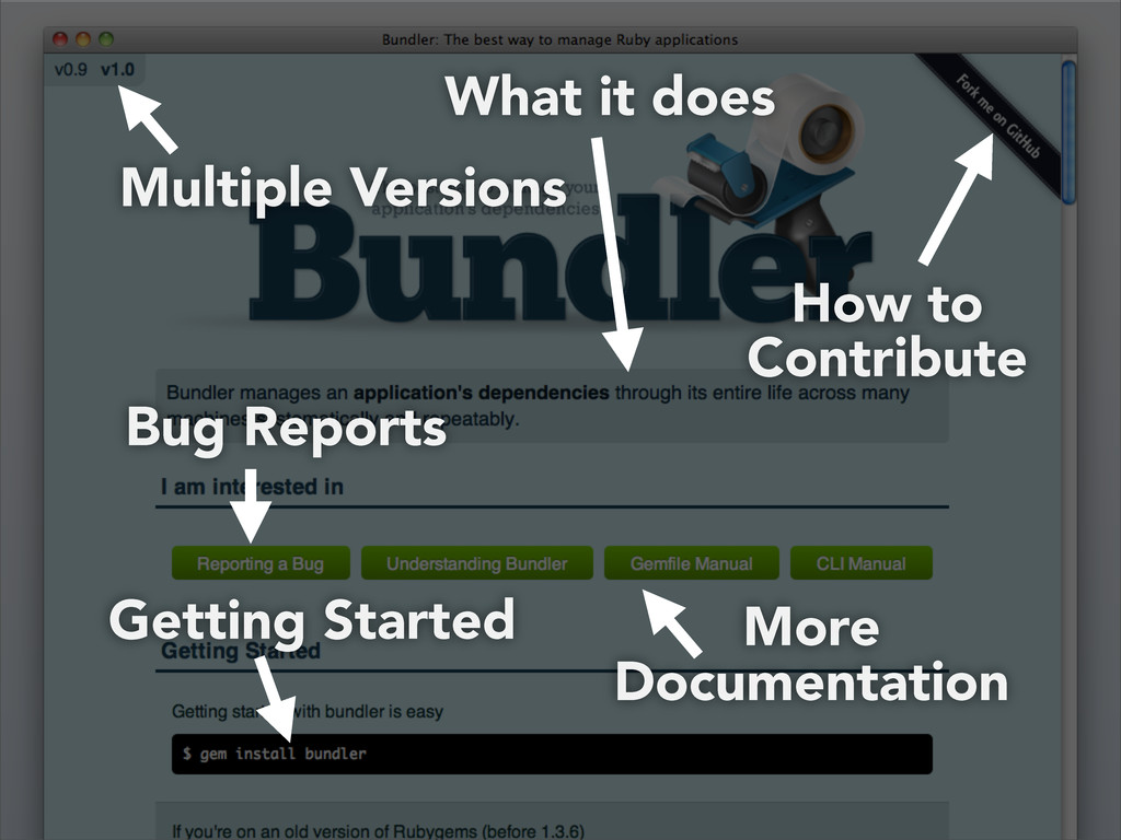 Multiple Versions How to Contribute Bug Reports...