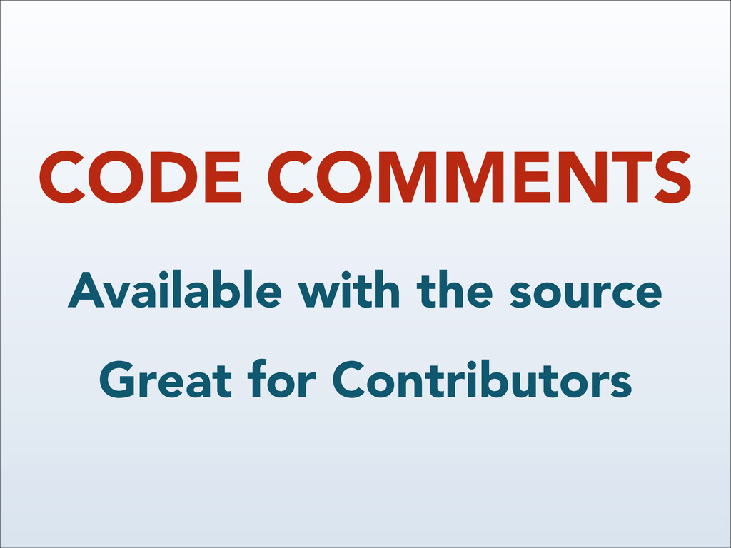 CODE COMMENTS Available with the source Great f...
