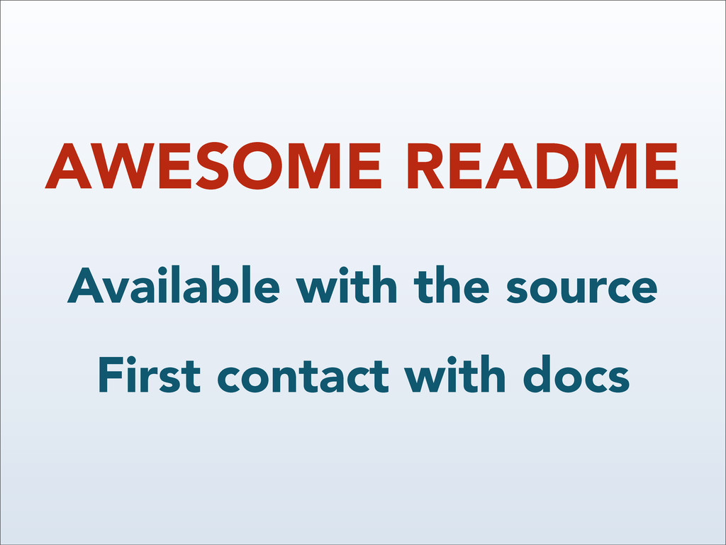 AWESOME README Available with the source First ...