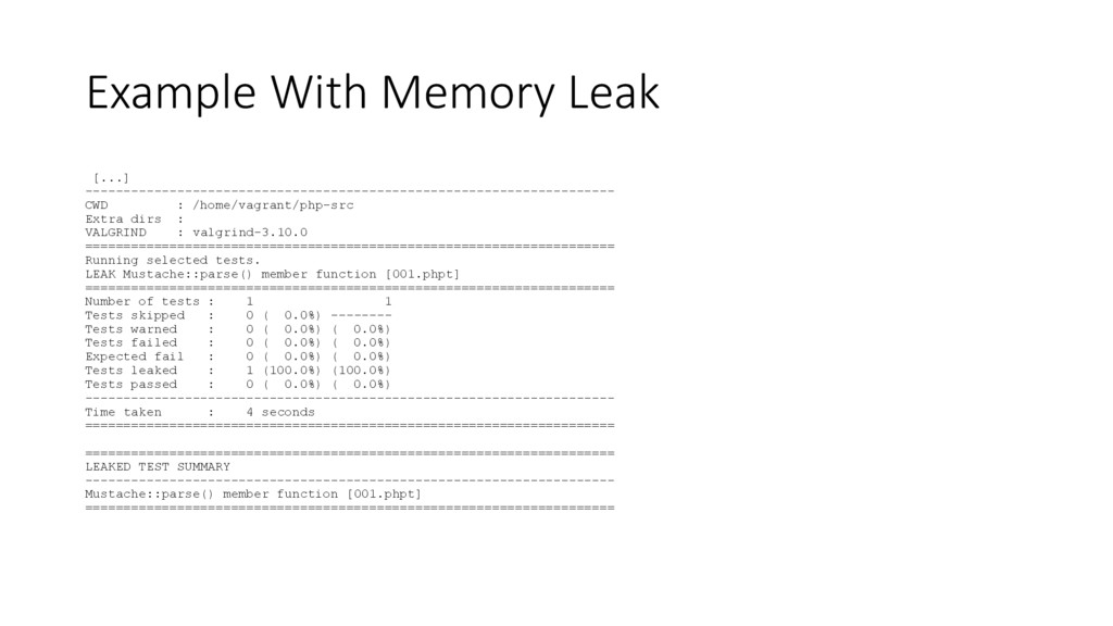 Example With Memory Leak [...] ----------------...