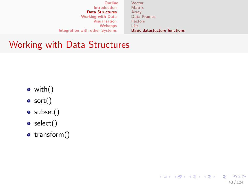 Outline Introduction Data Structures Working wi...