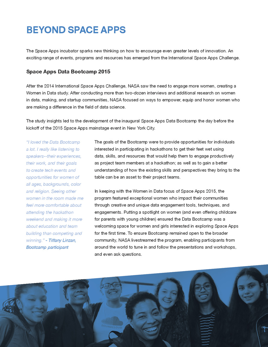SPACE APPS 2015 MISSION REPORT 14 The Space App...