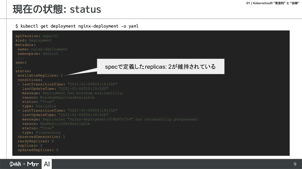 9 apiVersion: apps/v1 kind: Deployment metadata...