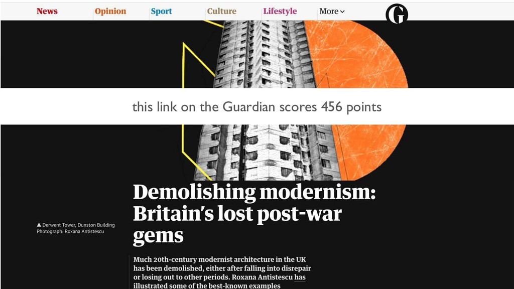this link on the Guardian scores 456 points