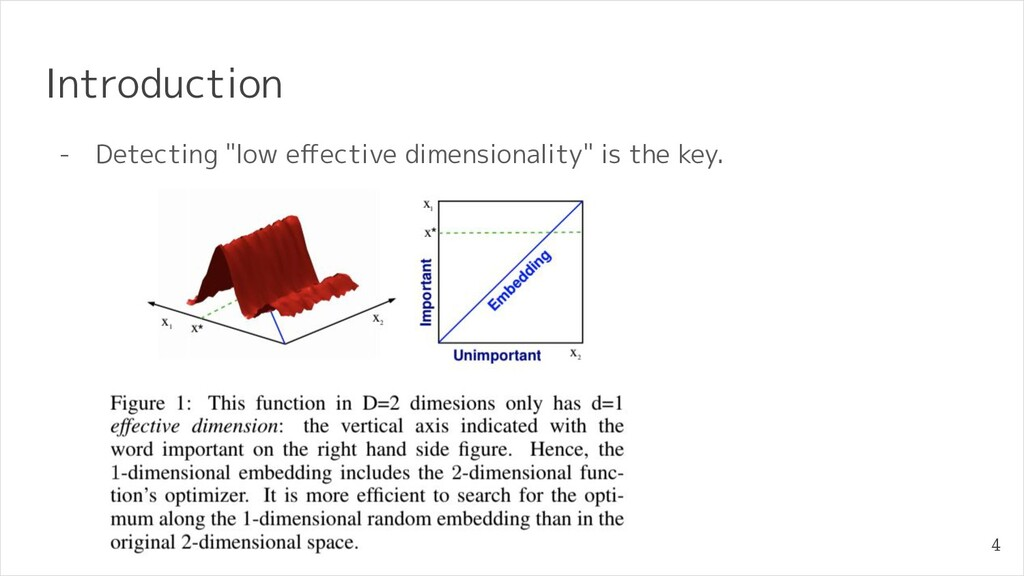 """Introduction - Detecting """"low effective dimensio..."""