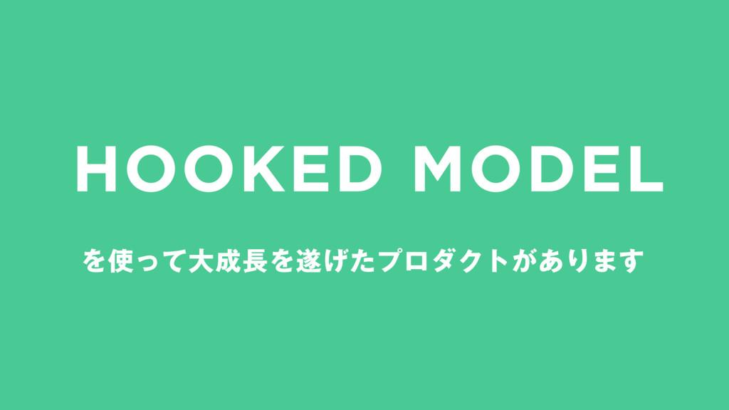 HOOKED MODEL ΛͬͯେΛ͛ͨϓϩμΫτ͕͋Γ·͢
