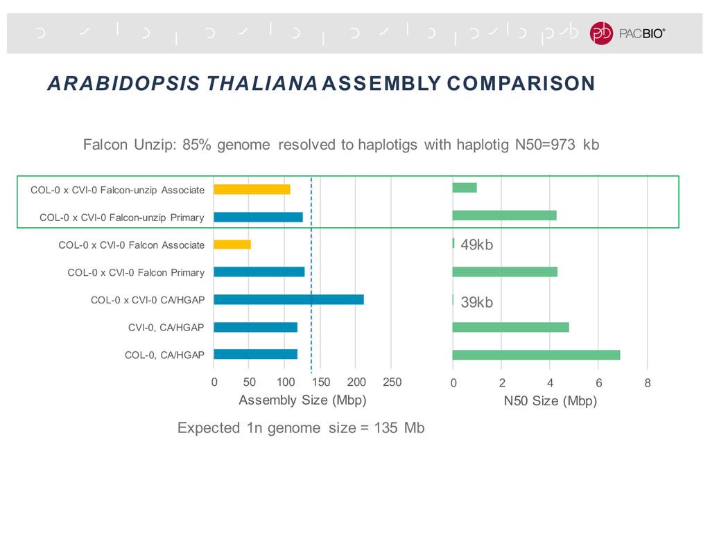 ARABIDOPSIS THALIANA ASSEMBLY COMPARISON 0 50 1...