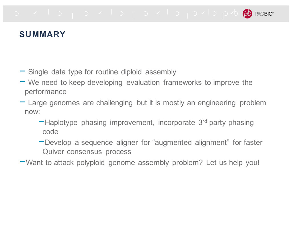 SUMMARY - Single data type for routine diploid ...