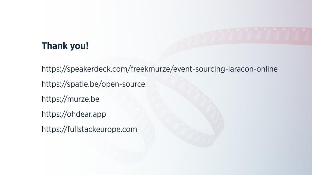 Thank you! https://speakerdeck.com/freekmurze/e...