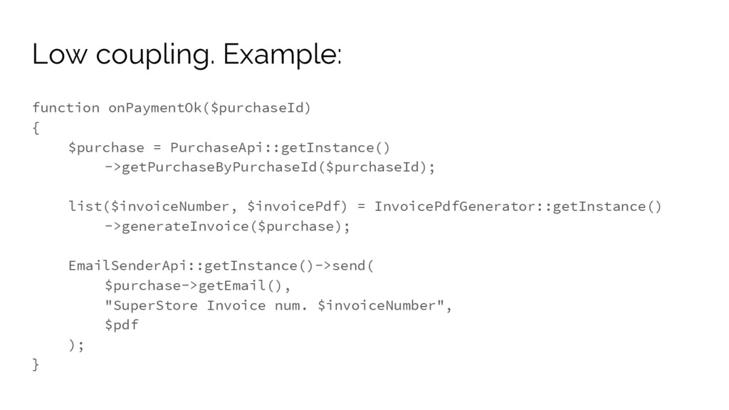 function onPaymentOk($purchaseId) { $purchase =...