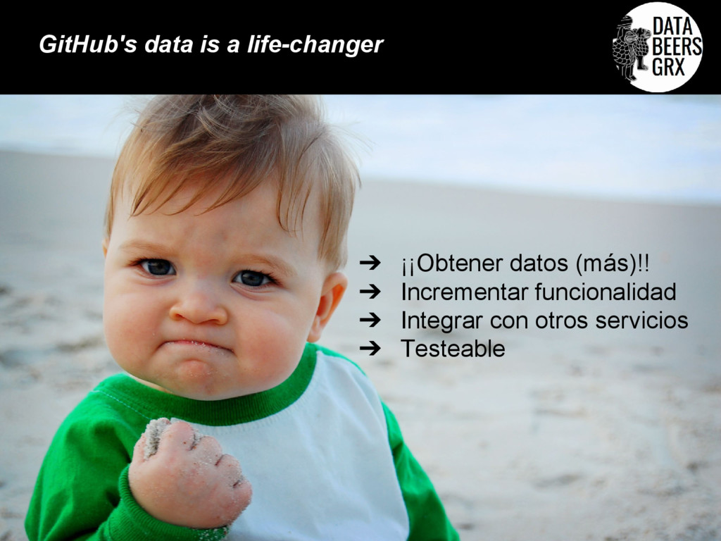 ➔ ¡¡Obtener datos (más)!! ➔ Incrementar funcion...