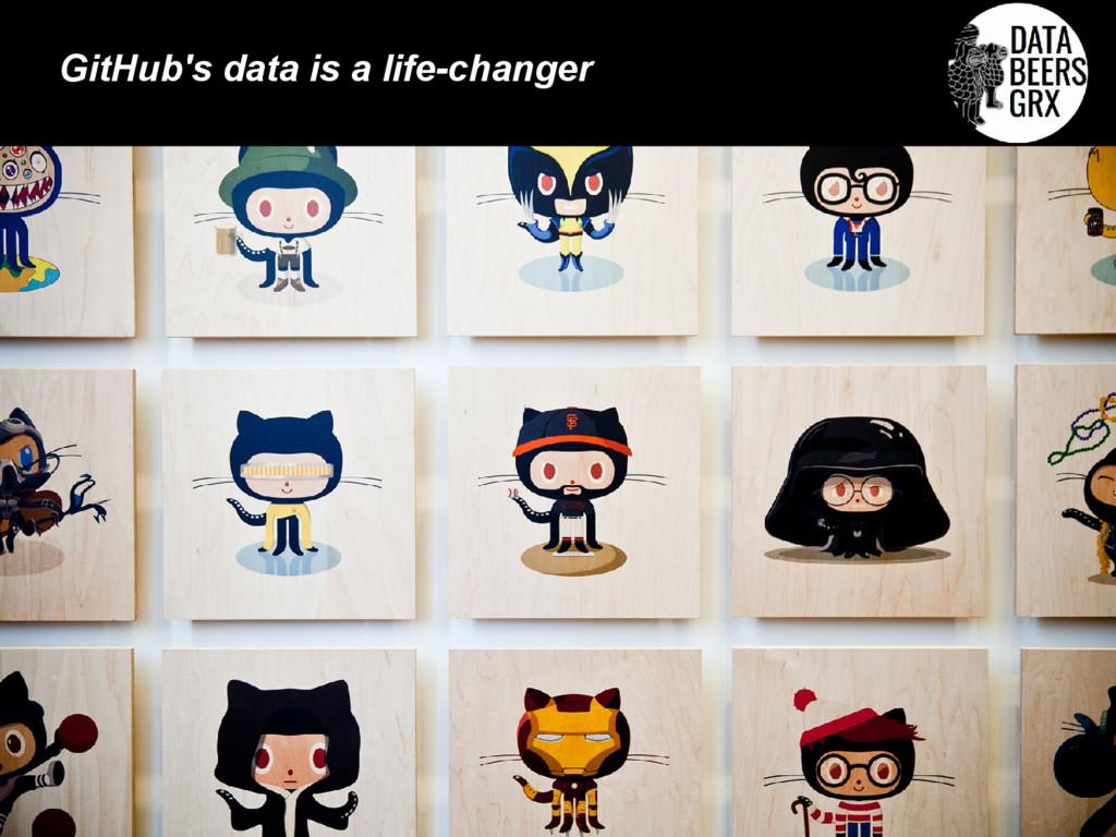 GitHub's data is a life-changer