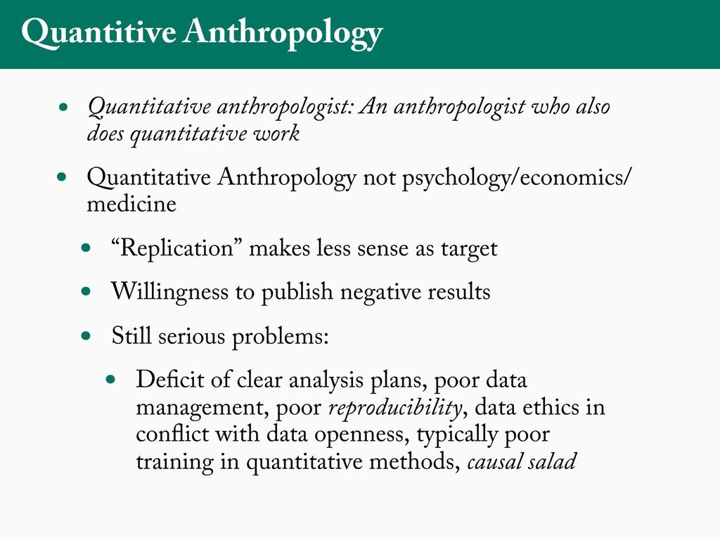 Quantitive Anthropology • Quantitative anthropo...