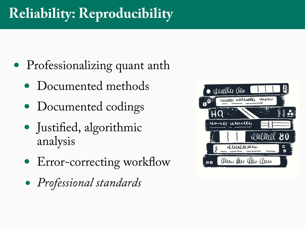 Reliability: Reproducibility • Professionalizin...