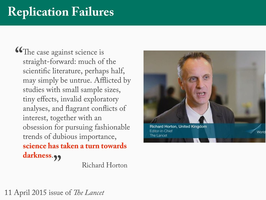 Replication Failures The case against science i...