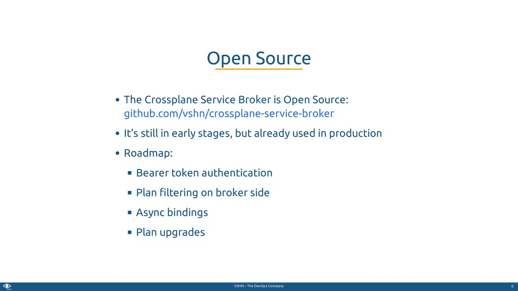 VSHN – The DevOps Company The Crossplane Servic...