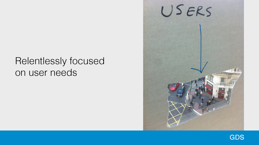Relentlessly focused  on user needs GDS