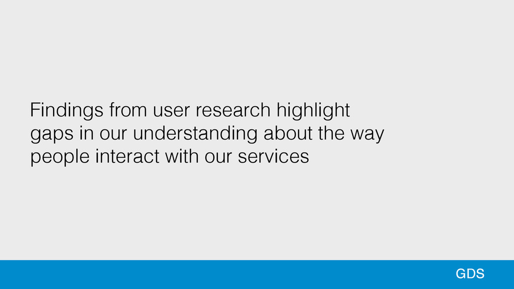 30 13 GDS Findings from user research highlight...