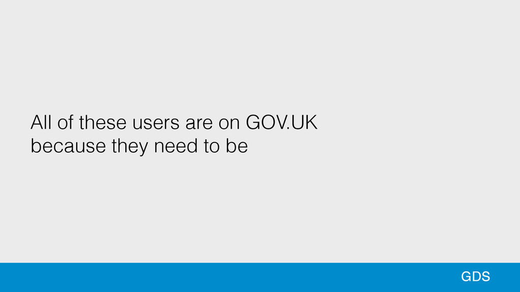 43 43 GDS All of these users are on GOV.UK beca...