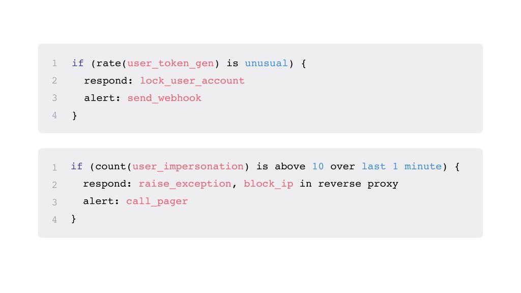 if (rate(user_token_gen) is unusual) { respond:...