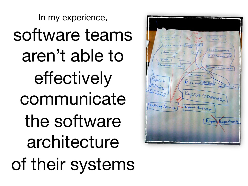 In my experience,   software teams aren't able ...