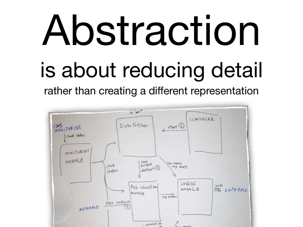 Abstraction  is about reducing detail  rather t...