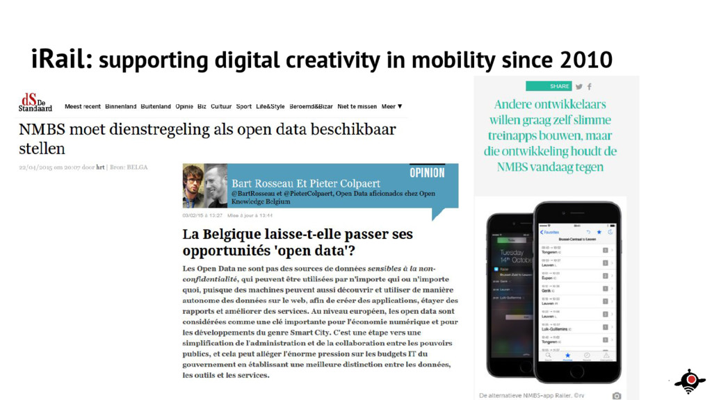 iRail: supporting digital creativity in mobilit...