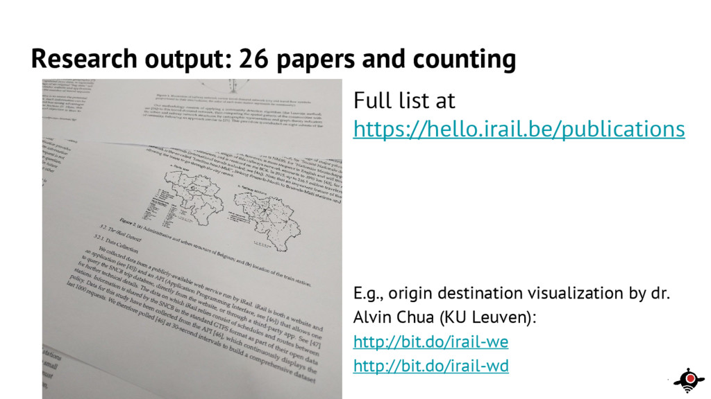 Research output: 26 papers and counting Full li...