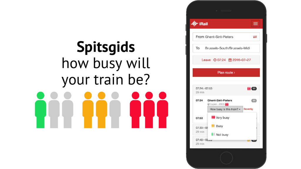 Spitsgids how busy will your train be?