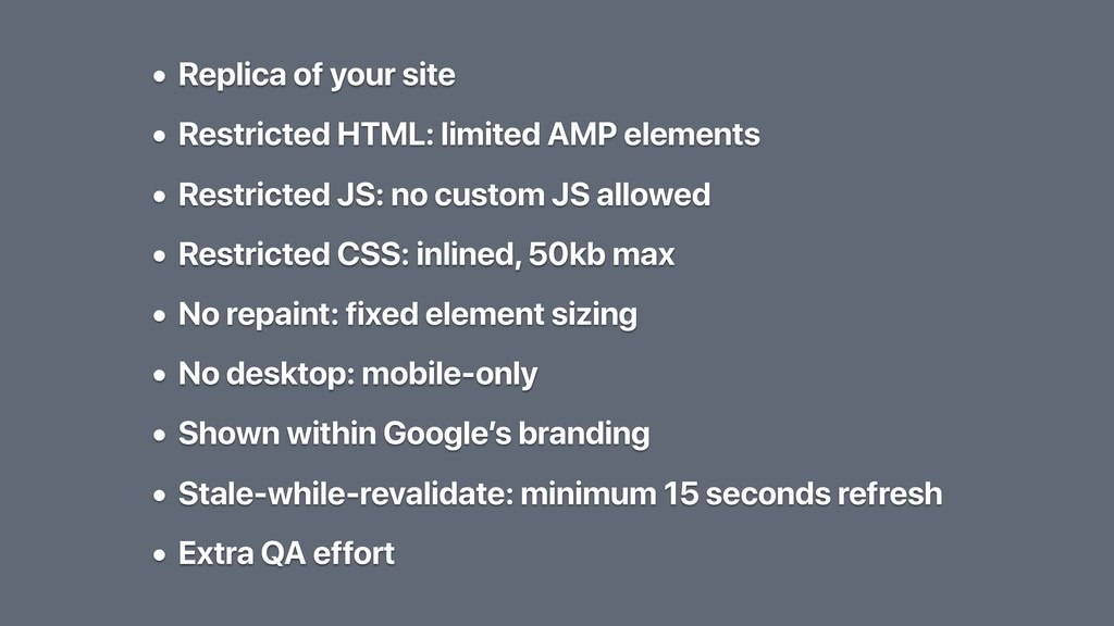 • Replica of your site • Restricted HTML: limit...