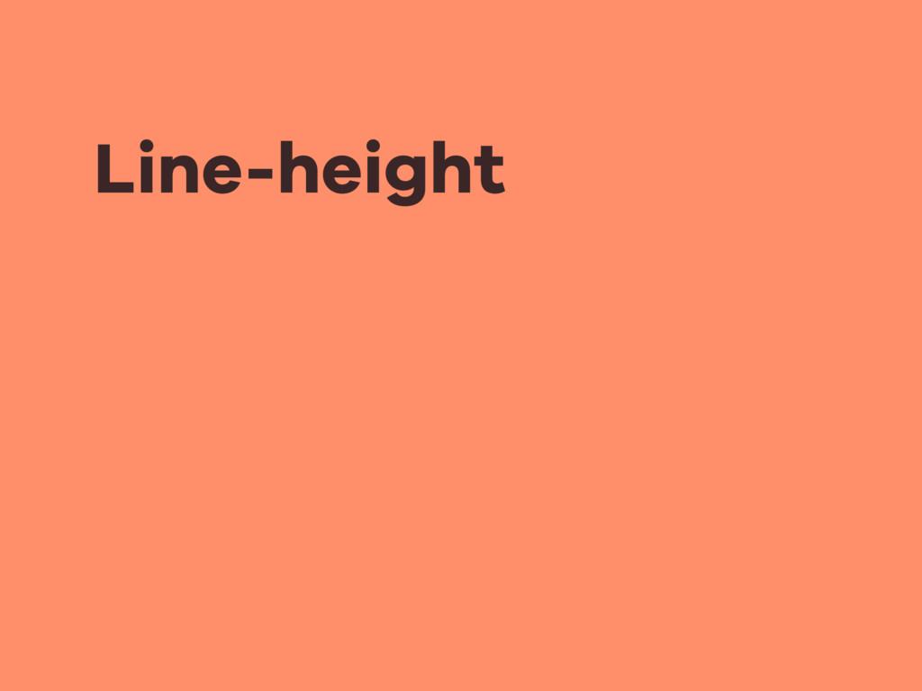 Line-height